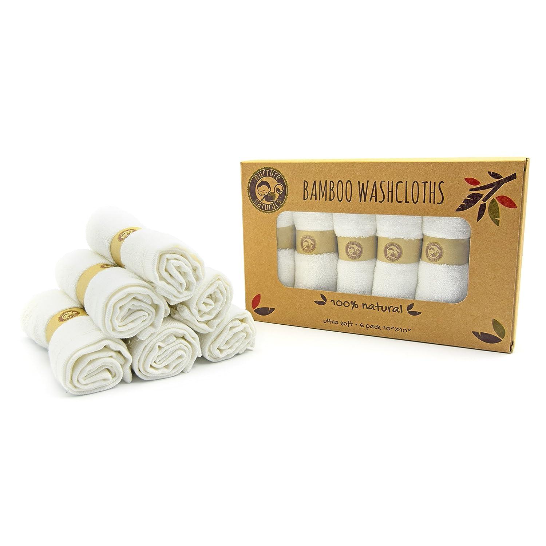 Nurture Naturals Manopla de bebé de bambú, toallitas para bebés, farbstofffrei, 25 cm x 25 cm, 6ser Paquete de perfecto Bebé Toallas: Amazon.es: Bebé