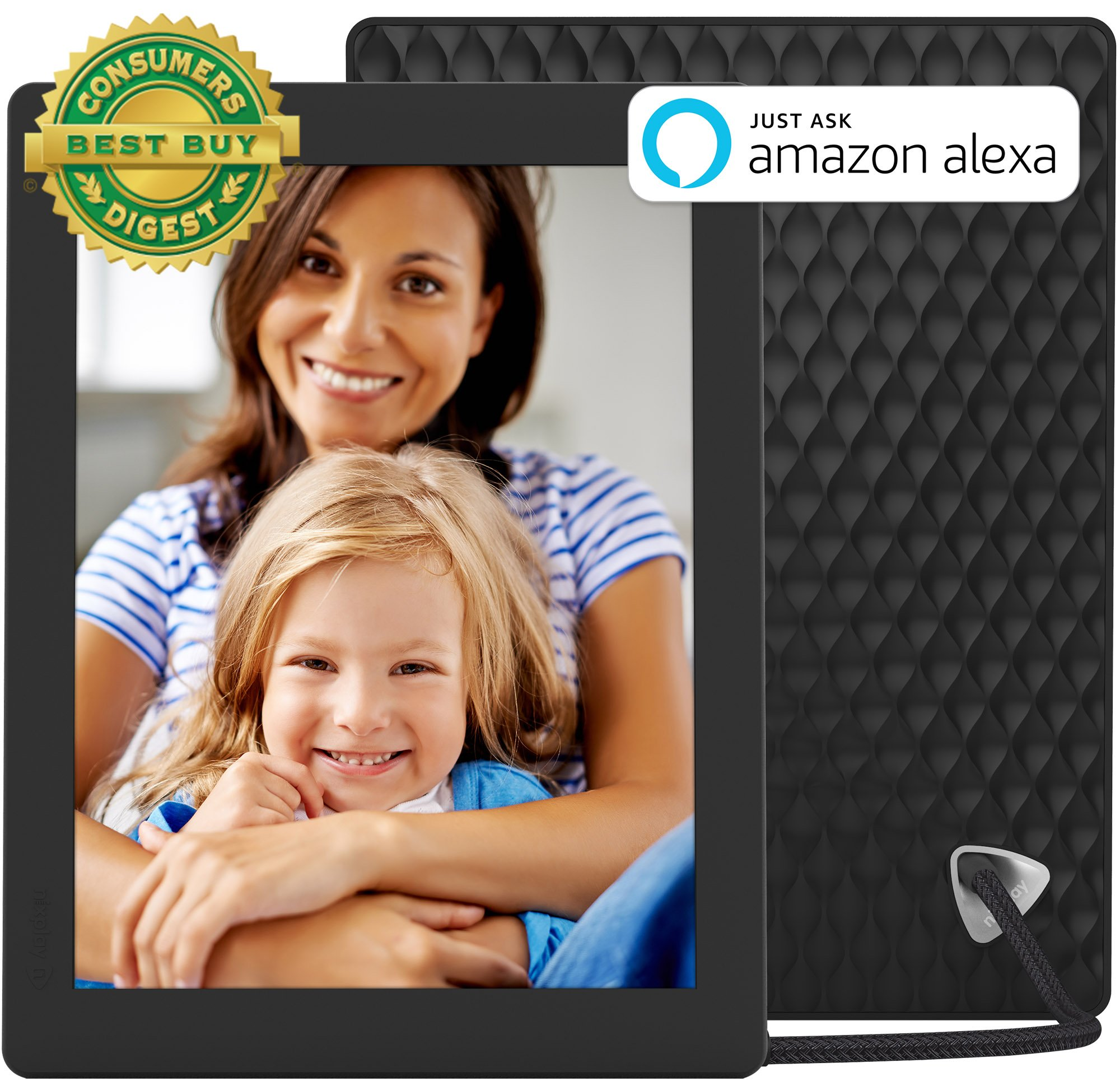 Nixplay Seed 10 Inch WiFi Cloud Digital Photo Frame with IPS Display, iPhone & Android App, Free 10GB Online Storage and Motion Sensor (Black) by nixplay (Image #1)