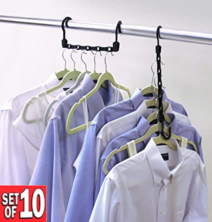 Lovely Closet Complete Magic Cascading Hangers, TV Item, Set Of 10