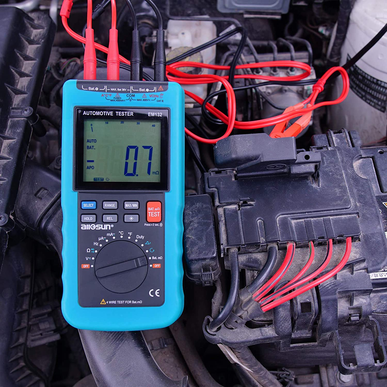 e7cffd4a6a6 Amazon.com: ALLOSUN EM132 Digital Automotive Multimeter: Automotive