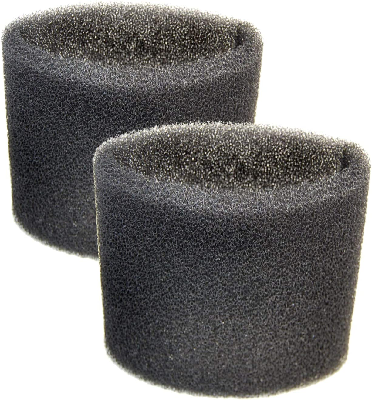 HQRP 2-Pack Foam Sleeve Filter Compatible with Shop-Vac Wet/Dry Vacuums 5-Gallon and Above, Type R 90585 9058500 905-85-00 905-85 Replacement