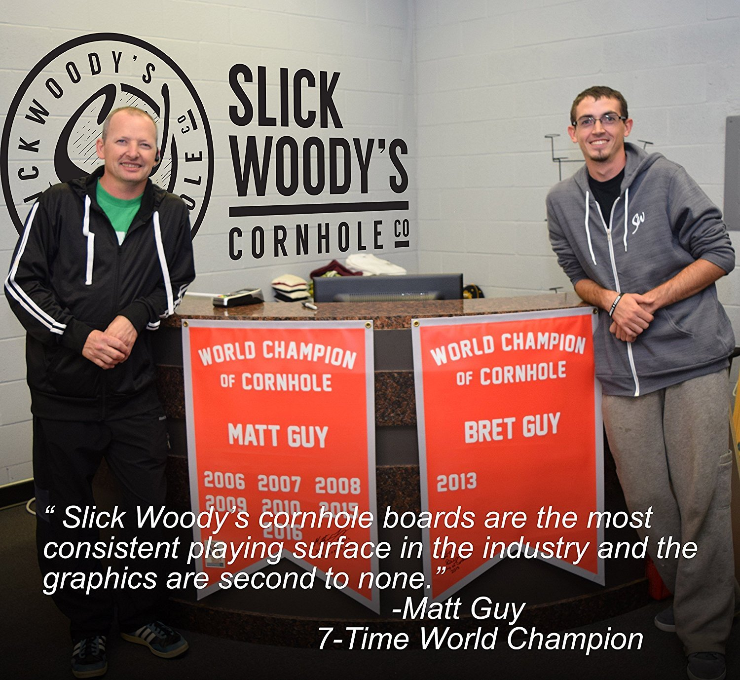 Slick Woody's 4'x2' Regulation Size American Big Buck Cornhole Boards Set by Slick Woody's Cornhole Co.