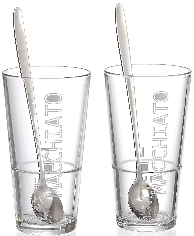 Ritzenhoff und Breker 115512 - Juego de vasos para café (con cuchara, 4 unidades) Ritzenhoff & Breker
