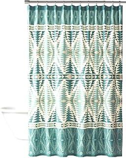 Pendleton Pecos Shower Curtain Aqua
