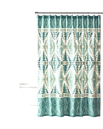 Image Unavailable Not Available For Color Pendleton Pecos Shower Curtain Aqua