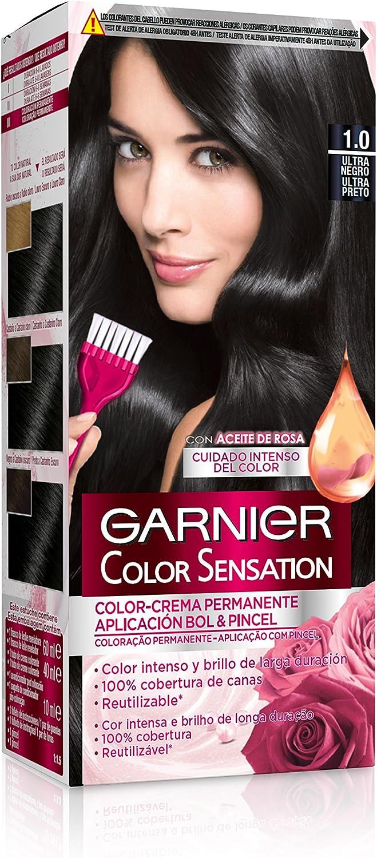 Garnier Color Sensation - Tinte Permanente Ultra Negro 1.0 ...