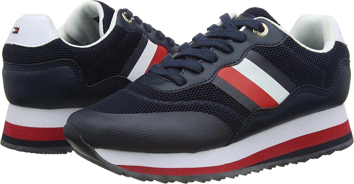 Tommy Hilfiger Sporty Tommy Retro Runner, Zapatillas para Mujer ...