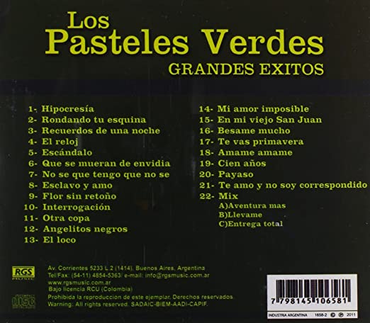 Los Pasteles Verdes, Pasteles Verdes Los - Grandes Exitos - Amazon.com Music