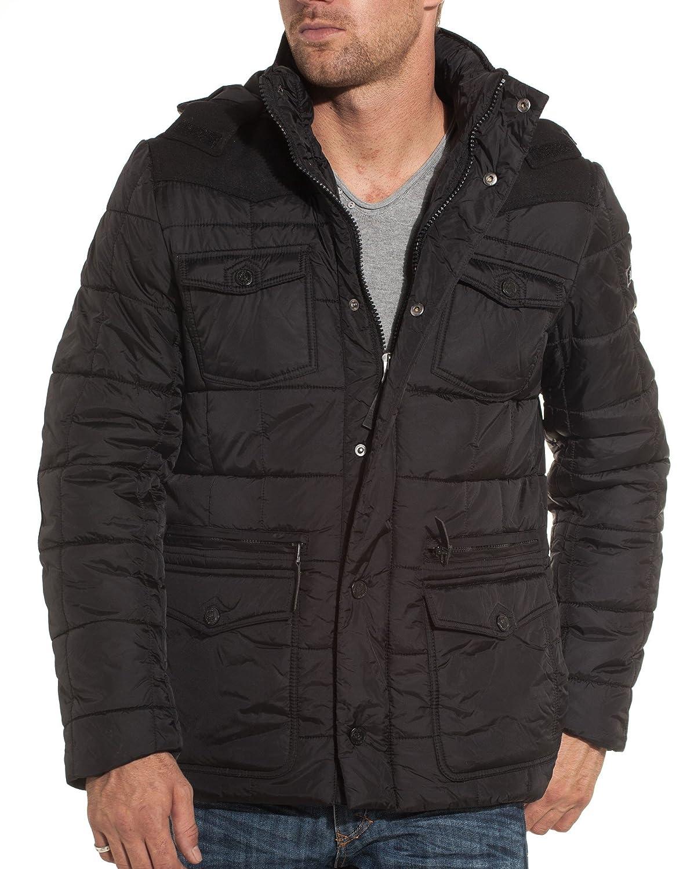 Mzgz - Black jacket with elbow fashion