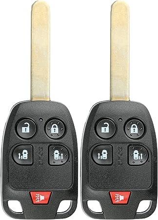 KeylessOption Keyless Entry Remote Fob Blank Uncut Chip Ignition Car Key for Honda Odyssey N5F-A04TAA