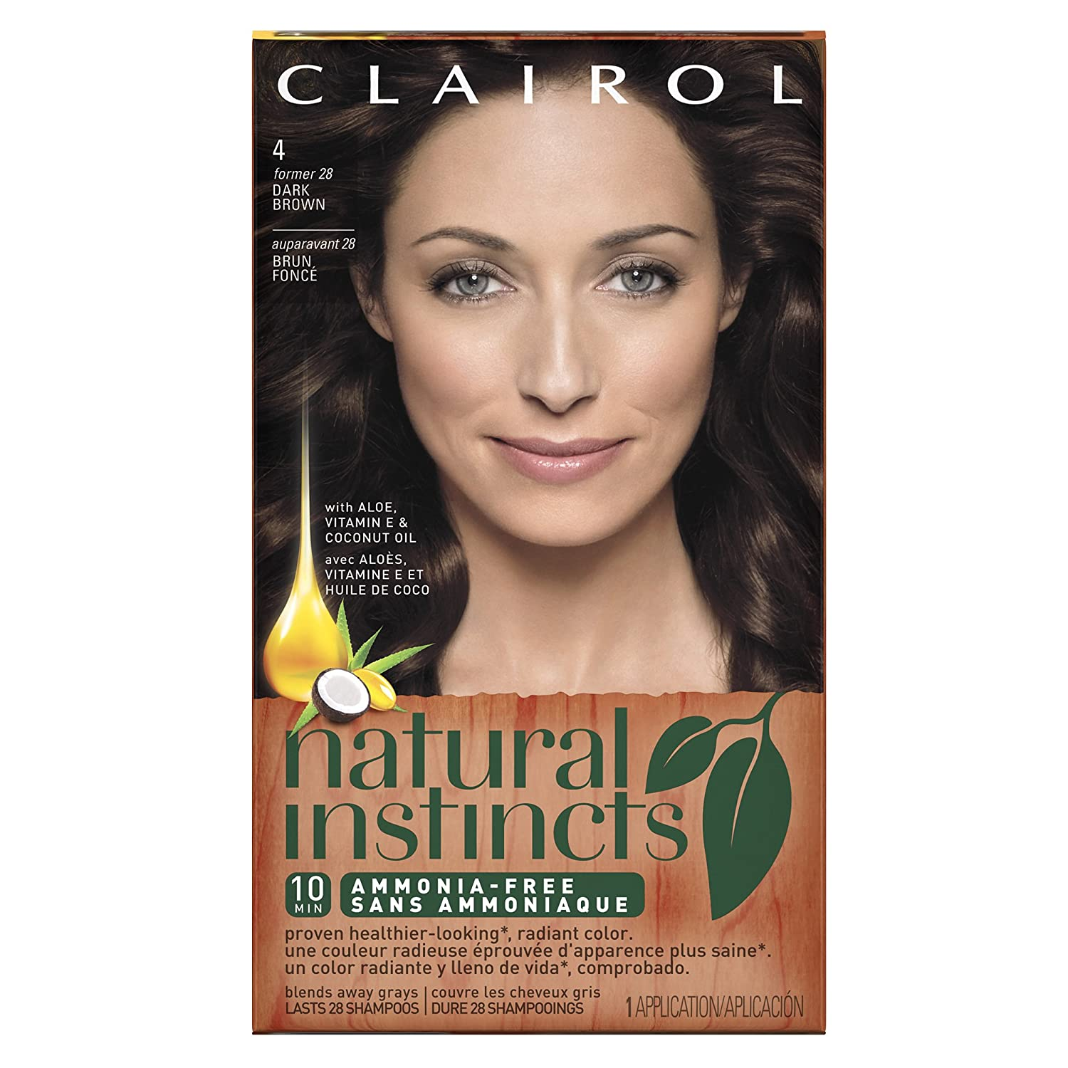 Clairol Natural Instincts 428 Nutmeg Dark Brown Semi Permanent