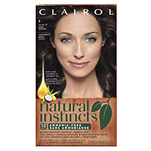 Clairol Natural Instincts Semi-Permanent Hair Color #28 Nutmeg/Dark Brown 1 Kit