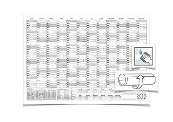 Wandkalenderjahresplaner 2019 Mit Ferien Abwischbar Din B1 100 X 70