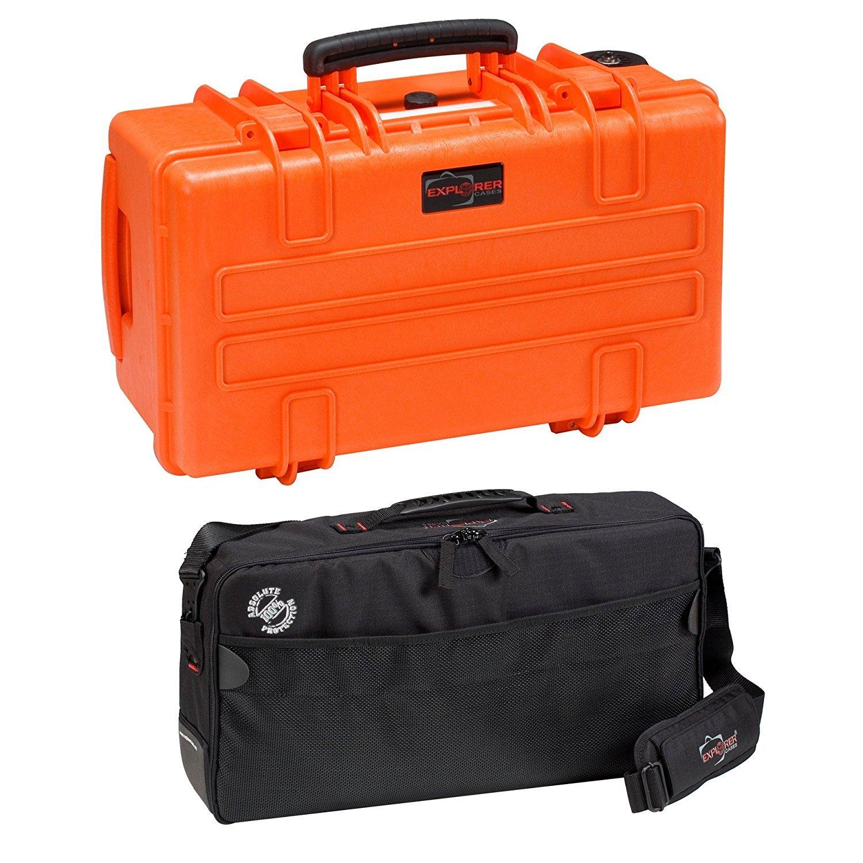 Explorer Cases 5122KTO 5122 Case with Custom Removable Padded Divider Bag for Cameras or Similar Electronic Gear and Organizer Lid Panel (Orange) [並行輸入品]   B019SZB8DA