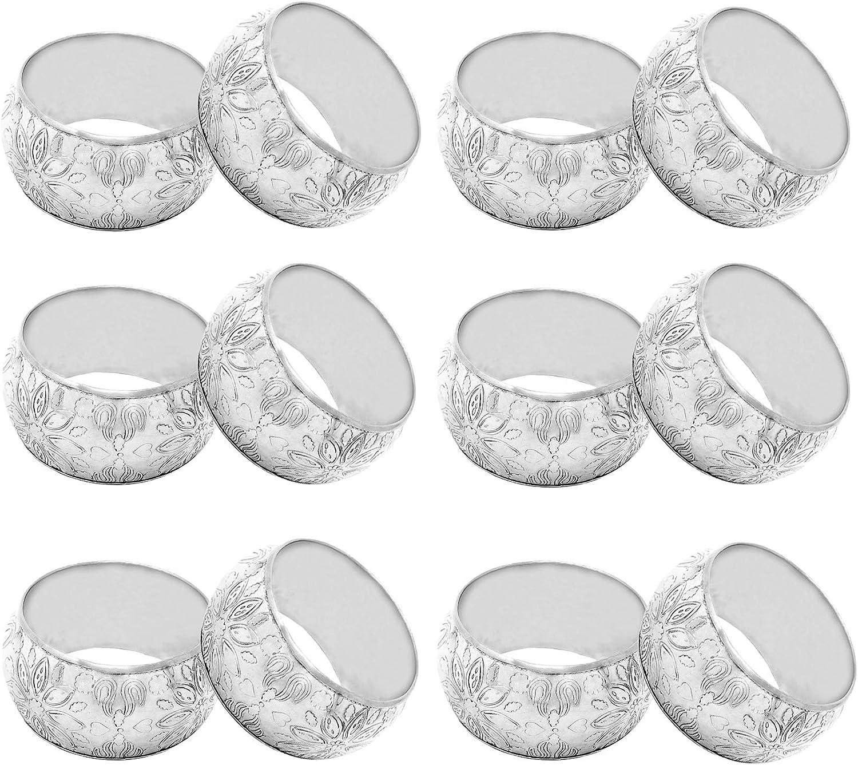 6PCS Gold Ros/égold Silberfarbene Schneeflocken Serviettenringe Set Metall Weihnachten Serviettenhalter Tischdekorationen Metall Serviettenringe Hochzeit f/ür Hochzeit Geburtstag Taufe TischDekoration