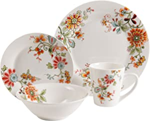 Gibson Floral Expressions Doraville Dinnerware set, 16 Piece, Multi-color