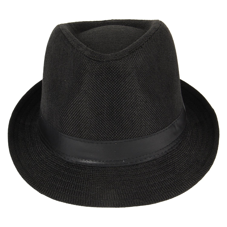 345de6dedbc96b Fedora Hats I Stylish Hats I Designer Fedora Hats For Womens I Classic Fedora  hats for Mens(Black): Amazon.in: Clothing & Accessories