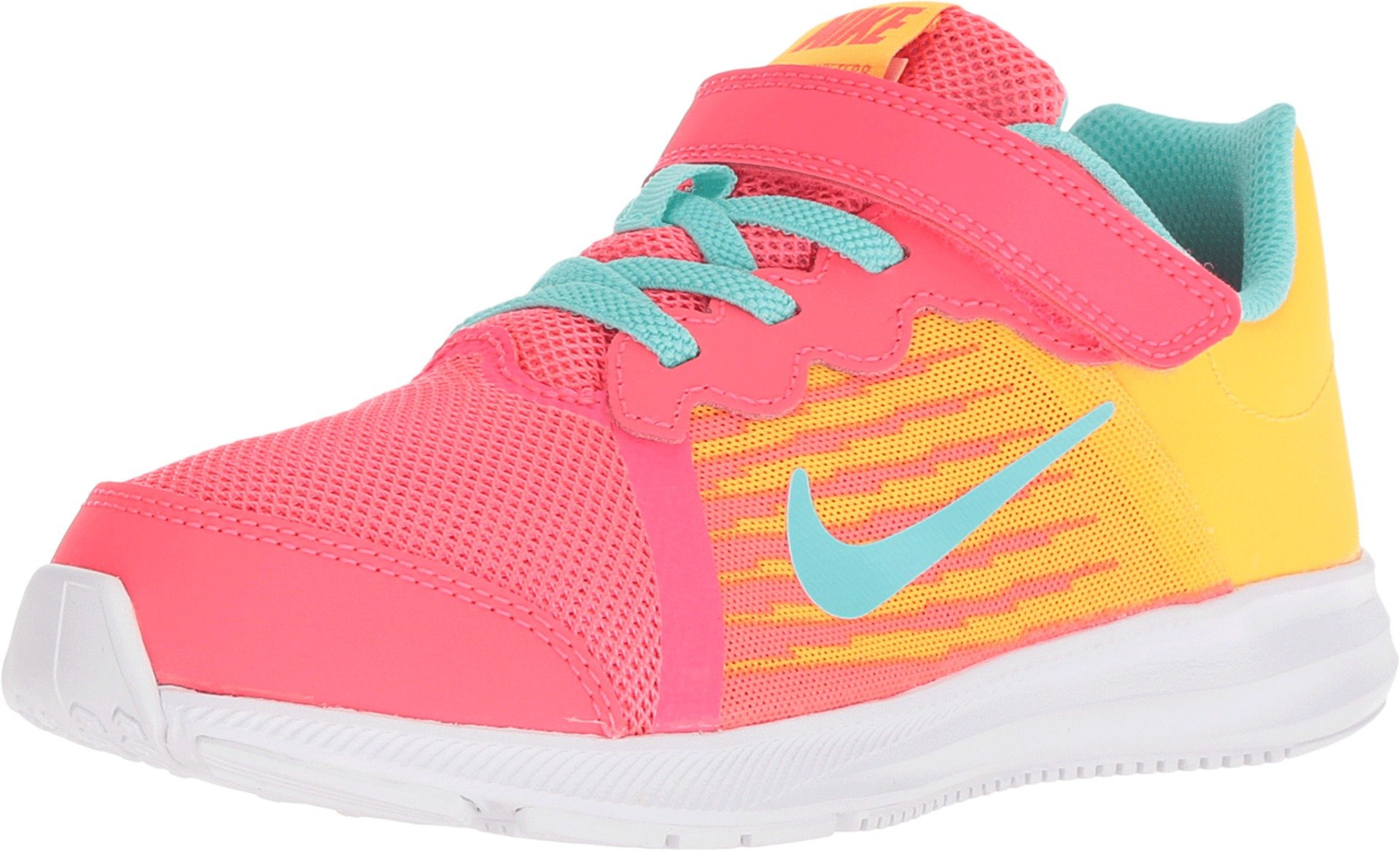 Nike Kids' Preschool Downshifter 8 Fade Running Shoes (1.5, Red/Green) by Nike (Image #1)