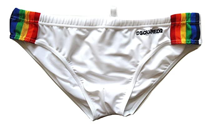 Costumi Da Bagno Bianco Uomo : Dsquared costume da bagno slip da uomo d b bianco tg