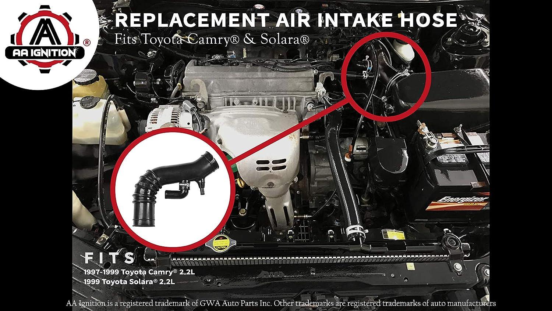 amazon com: air intake hose - fits 1997-1999 toyota camry, 1999