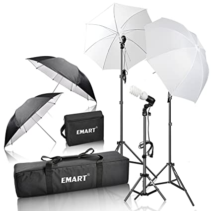 Emart 600W Photography Photo Video Portrait Studio Day Light Umbrella Continuous Lighting Kit  sc 1 st  Amazon.com : photo lighting kit - www.canuckmediamonitor.org
