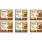 Wild Garden Hummus Snack Combo To-Go, 6 Pack Variety Pack Sea Salt Pita Chip (2- Roasted Garlic, 2- Sun Dried Tomato, 2- Traditional)