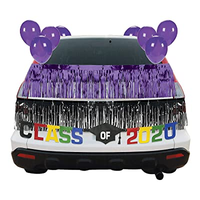 Purple Graduation Car Parade Decorating Kit - Party Decor - 30 Pieces: Health & Personal Care