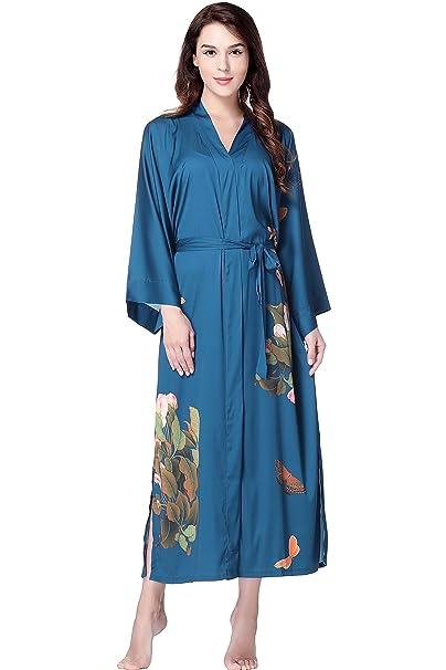 ArtiDeco - Bata - para Mujer Päonie Blau Talla única: Amazon.es: Ropa y accesorios