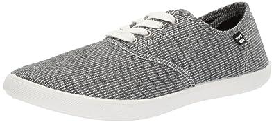 2d379e193b6b Billabong Women s Addy Lace Up Shoe Black White 6