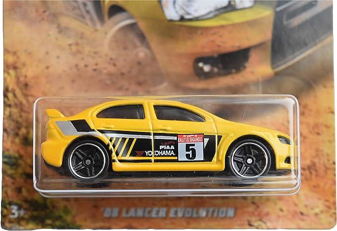 Hot Wheels 2018 Gran Turismo 2008 Mitsubishi Lancer Evolution Yellow #08 3//8
