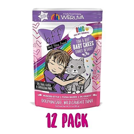 weruva 784221 12-Pack Best Feline Friend Tuna/Beef Baby cake ...