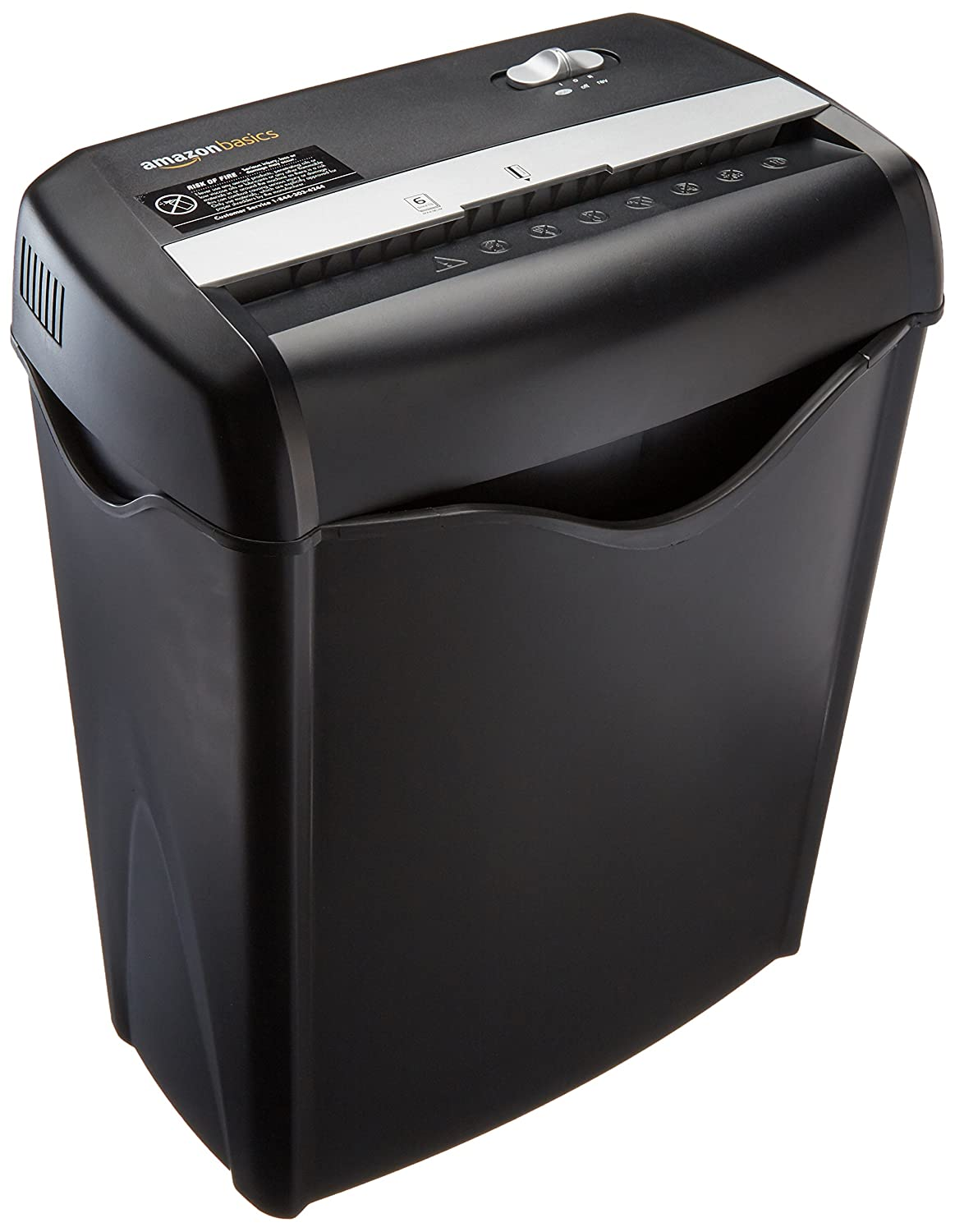AmazonBasics 6-Sheet Cross-Cut Paper and Credit Card Shredder AS662C