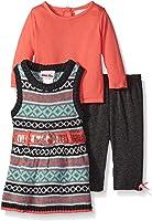 Little Lass Baby Girls' 3 Piece Sweater Jumper Set Belted Jacquard
