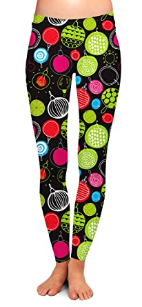 967424554b575 TWO LEFT FEET Women's Holiday Leggings at Amazon Women's Clothing store:
