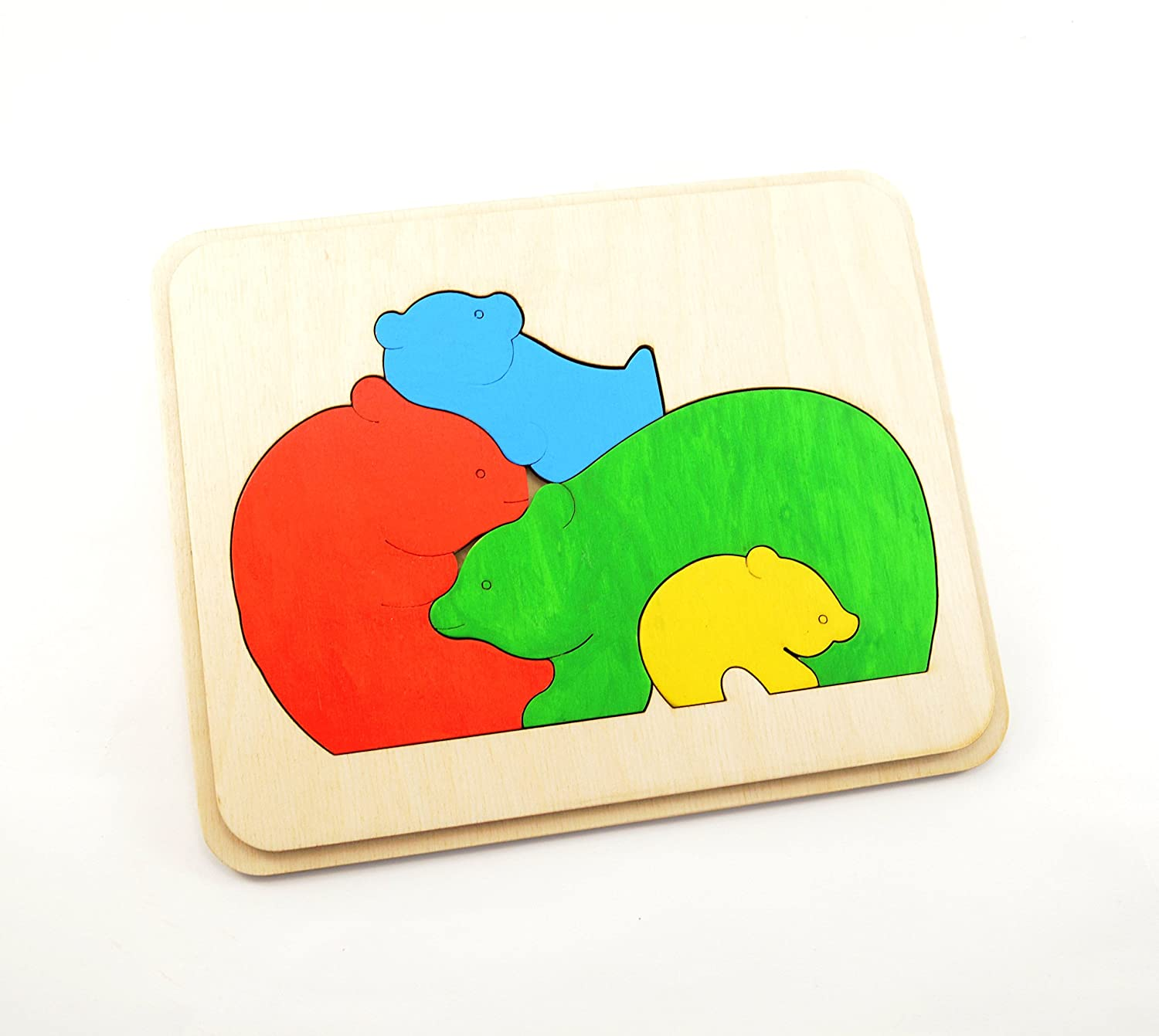 Bears family Wooden puzzle Waldorf toy Wooden toy Sensory toy Handmade Wood July 4th Toddler toy Baby toys Fine motor skills Montessori toy