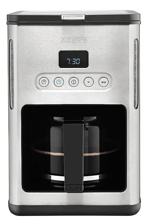 Krups KM442D Independiente - Cafetera (Independiente, Cafetera de filtro, 1,25 L, 1000 W, Acero inoxidable)