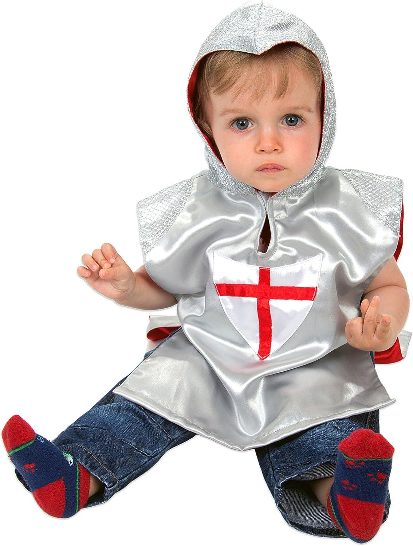 Slimy Toad - Disfraz infantil de caballero medieval - Disfraz de caballero infantil - Disfraz de caballero medieval para niño pequeño (12-24meses)