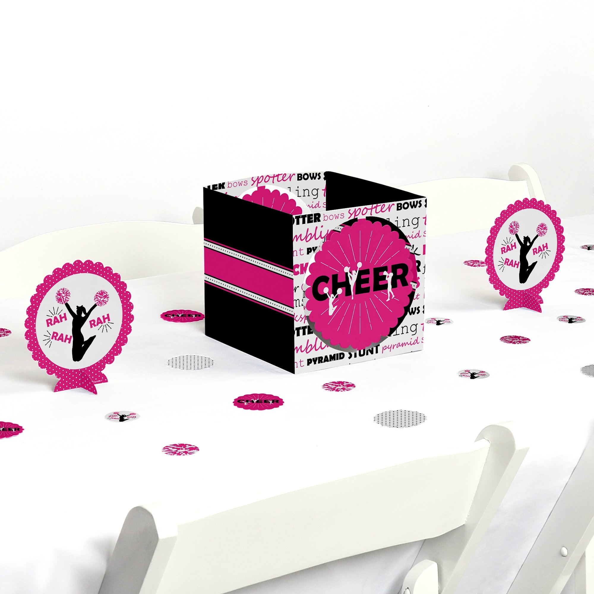 Big Dot of Happiness We've Got Spirit - Cheerleading - Birthday Party or Cheerleader Party Centerpiece & Table Decoration Kit by Big Dot of Happiness