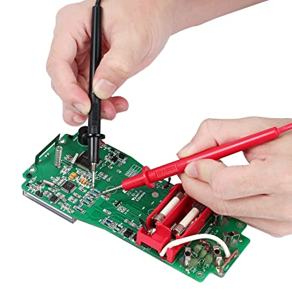 justech 2 pcs Digital Multímetro Cable de prueba electrónica profesional de puntas de prueba con pinzas de cocodrilo para la escuela laboratorio fábrica y ...