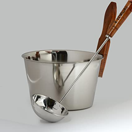 Amazon.com: cubeta de sauna finlandesa de lujo en acero ...