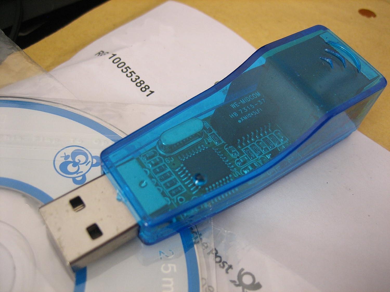 USB LAN Adapter Konverter RJ45 Ethernet Netzwerk 10: Amazon.de ...