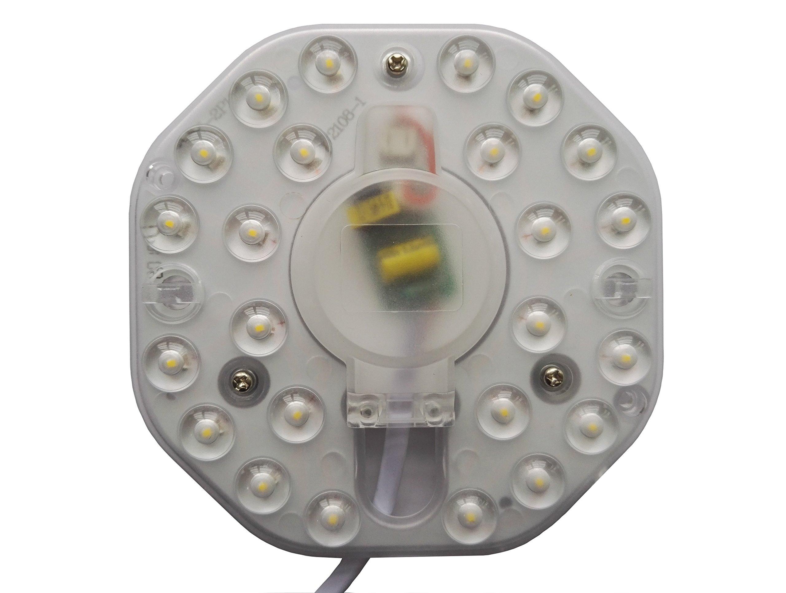 PhotonDynamic LED Lamp Plate Module, LED Light Engine Retrofit Kit For Ceiling Flush Light、Ceiling Fan Light、Absorb Dome Light、sitting room light、Kitchen lamp、Corridor light、Toilet lamp、etc. (12W)