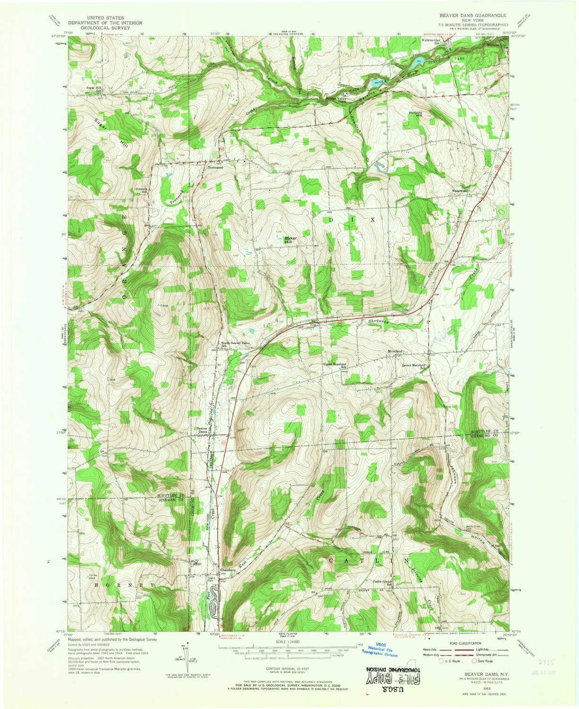 Amazon.com : YellowMaps Beaver Dams NY topo map, 1:24000 ...