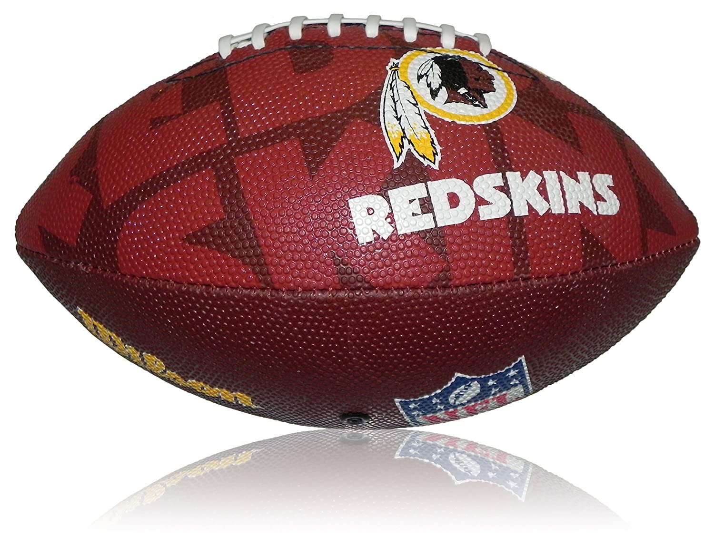 Wilson Football NFL Junior Washington Redskins Logo - Balón de fútbol americano (infantil, caucho), color, talla 5 WL0206604040