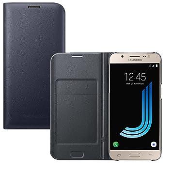 Lincivius Funda Samsung J7 2016 [Flip Cover] Carcasa Galaxy J7 2016 Proteccion con Tapa A Libro Estuche Resistente Anti Golpes Accesorios