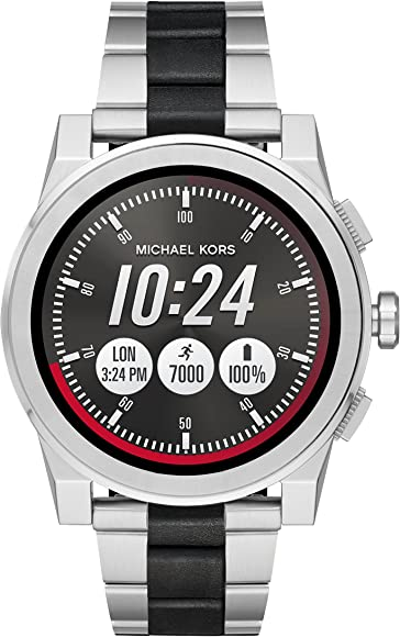 a62bec1ed Michael Kors Access, Men's Smartwatch, Grayson Two-Tone Stainless Steel,  MKT5037