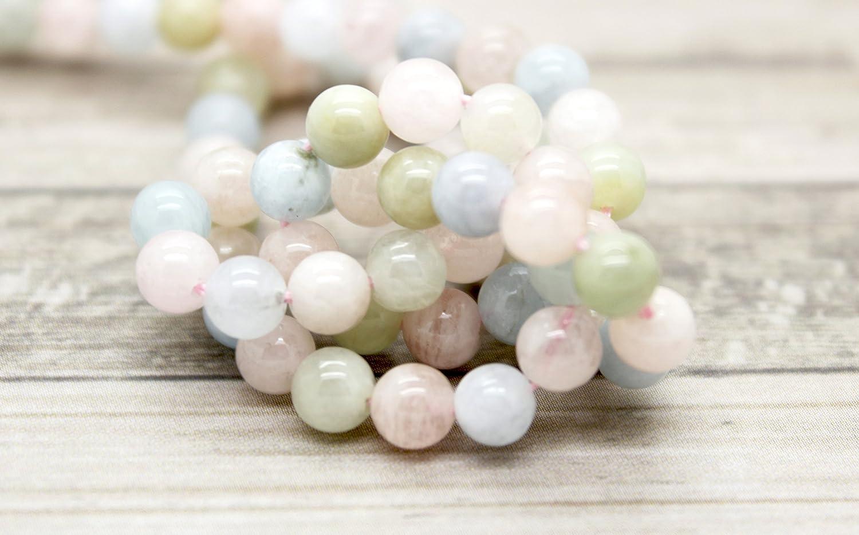 AAA 10mm 15/'/' Pink Morganite Round Gemstone Round Loose Bead