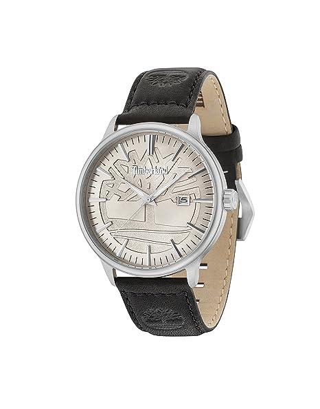 Timberland Reloj Análogo clásico para Hombre de Cuarzo con Correa en Cuero 15260JS/11: Amazon.es: Relojes