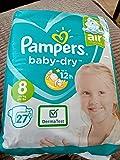 Pampers Maat 8 Baby Dry Pack van 27
