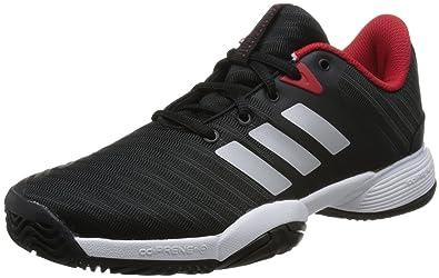 cheap for discount f42c4 9b580 adidas Barricade 2018 Chaussures de Tennis Mixte Enfant, Noir  CblackMsilveScarle,